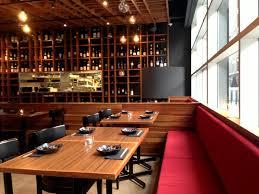 Modern Sleek Design by Decorating Sleek Japanese Restaurant Modern Design Red Upholstered