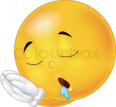 vector illustration of sleeping smiley emoticon stock