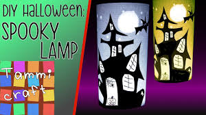 how to make a spooky halloween lamp haunted house silhouette