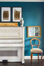 painted piano two tone color scheme hunt and host