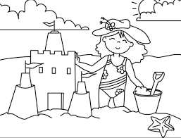 sandcastle coloring coloring