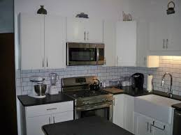 Kitchen Cabinets Lazy Susan Corner Cabinet by White And Gray Cabinets In Remodeled Kitchen