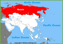 Blank Map Of Russia by Map Of Russia And Asia You Can See A Map Of Many Places On The