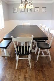 Dining Room Table Refinishing Love Joy Lane Two Toned Farmhouse Table Refinish