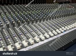 Studio Mixing Desks by Closeup View Sound Mixing Desk Stock Photo 13500562 Shutterstock