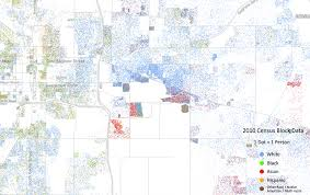 Michigan State Map Racial Dot Map Of Michigan State University And The Surrounding