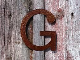 rustic metal craft letters