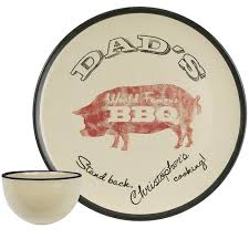 personalized bbq platter personalized 16 s world bbq platter with bowl