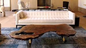 slab coffee table in beautiful decoration