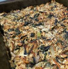 matzah farfel matzo kugel with spinach and goat cheese brokeass gourmet