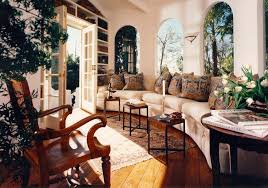 spanish colonial furniture living room tropical with family