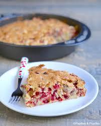 cuisiner des airelles gâteau aux airelles et aux noix de pécan
