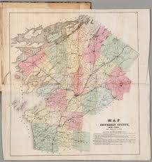 New York Counties Map Jefferson County New York David Rumsey Historical Map Collection