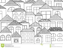 hand drawn with ink background with a lot of houses homes with