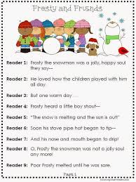 growing smart readers frosty and friends a readers theater