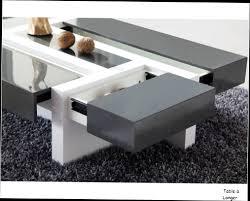 Table Salon Moderne by Table Basse Design Blanc Et Gris Indogate Com Decoration Cuisine
