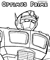 optimus prime coloring pages coloring pages to download and print