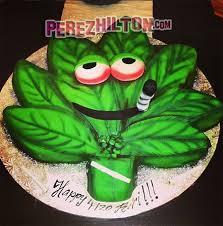 rihanna celebrates 4 20 with a weed shaped cake and diamonds on