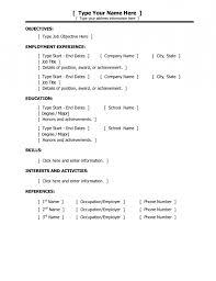Beginners Resume Examples Basic Resume For Beginners Resume Template Example