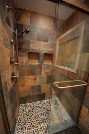 River Rock Bathroom Ideas Basement Tiled Showers Ideas Basement Masters