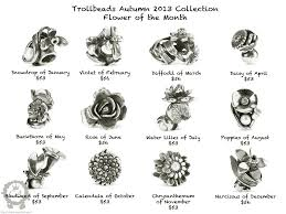 flower of the month birth flowers by month trollbeads flower of the month collection