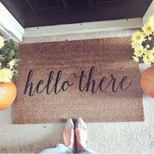 Bonjour Doormat Well Hello There Coir Doormat 4th Street Pinterest Doormat