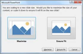 change the size of your slides powerpoint
