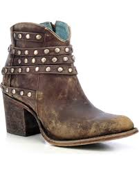 womens boots toe corral s studded ankle boots toe country