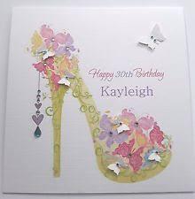 modern handmade personalised calendar birthday card male female 30