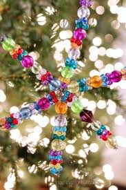 easy ornament can make beaded snowflake ornament