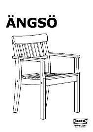 sedia da giardino ikea 繖ngs纐 tavolo 4 sedie braccioli giardino mordente marrone nero
