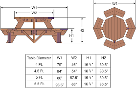 plans to build hexagon picnic table plans diy free download free