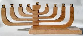 wooden menorah adjustable wood menorah