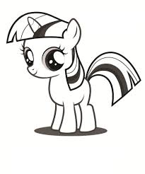 my little pony unicorn coloring page free download