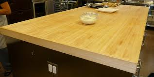 butcher block table counter top made of torsion box composite