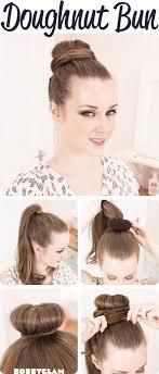 hairstyles using a bun donut best 25 donut bun ideas on pinterest hair donut styles donut