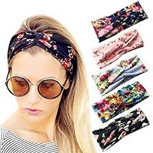 women s headbands loritta 5 pcs women s headbands elastic boho printed turban