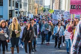 women u0027s march 2018 draws large crowds to downtown los angeles
