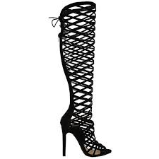 womens black knee high boots size 9 fashion thirsty womens cut out lace knee high heel boots gladiator sandals strappy size 9 1 1000x1000 jpg