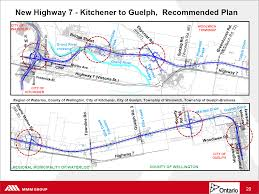 Map Ontario Ca Ontario Hwy 7 Kitchener To Guelph Freeway