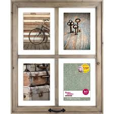 better homes and gardens wall decor better homes and gardens 4 opening rustic windowpane collage frame