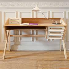 Schreibtisch Aus Holz Origami Schreibtisch Ethnicraft Aus Holz Mit Schubladen Aus Mdf