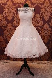 wedding dress bridal gown short 1950s 60s 50s vintage tea length