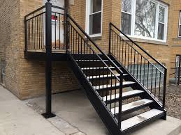 chicago iron railings u0026 handrails contractors chicago fences and