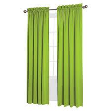 seymour energy efficient rod pocket curtain panel lime green 54 x84