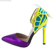 sexy color rainbowcat sexy color block butterfly design ladies high heel