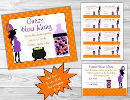 Halloween Bingo Game Printable by Halloween Baby Shower Games Guess How Many Candies Game