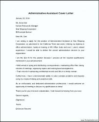 sample administrative assistant cover letter administrative