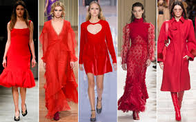 the color red is a trend at the fall winter 2017 18 shows