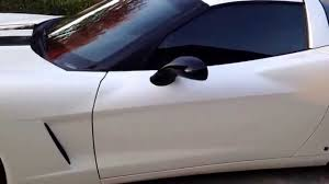 pearl white corvette corvette c6 wrapped in 3m 1080 satin pearl white with gloss black